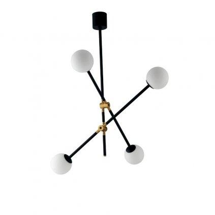 I ANTITESI S4 přisazené černé svítidlo rameno se zlatou a bílé kuličky obchod svitidla pikomal