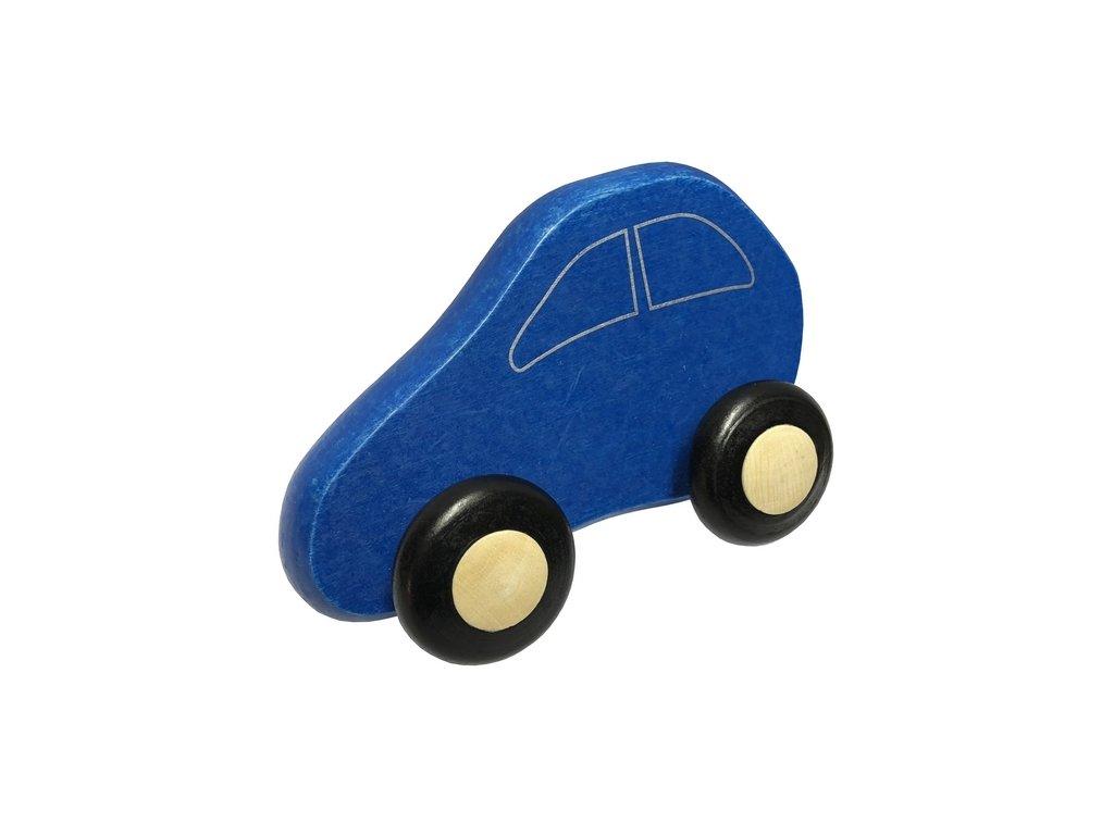 dřevěné autíčko modré