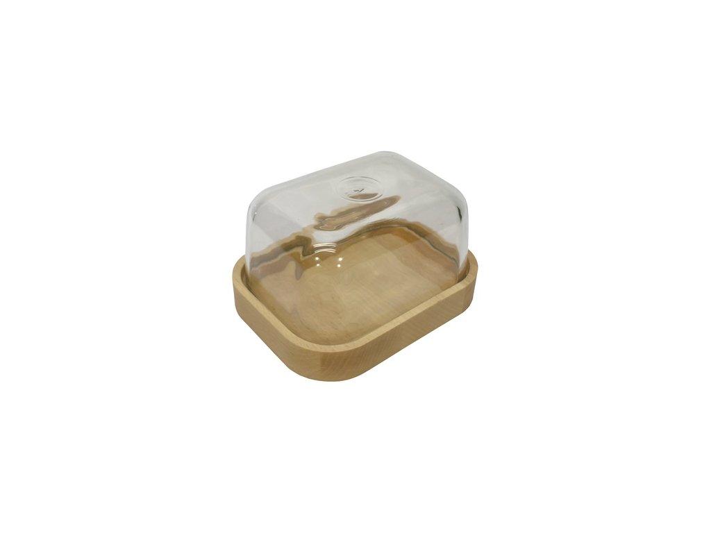 dóza na máslo skleněná 001