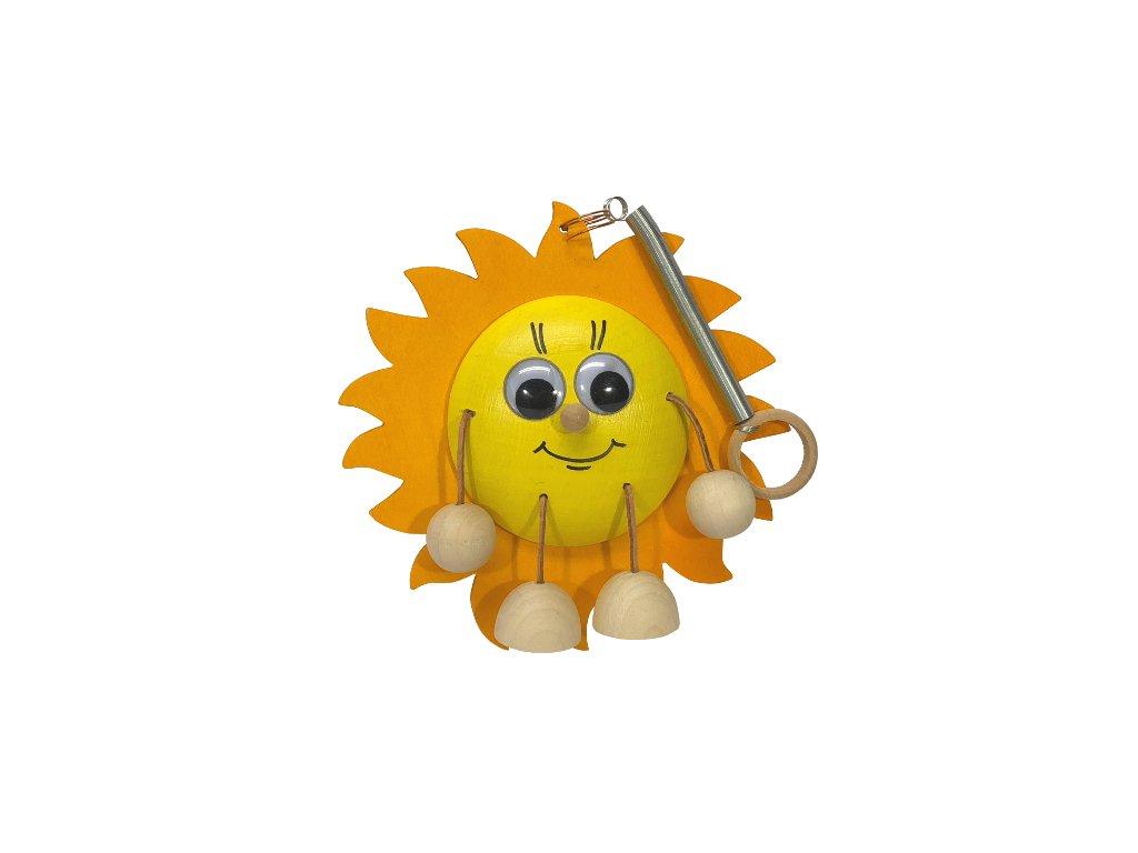 Dřevěná hračka na pružině Sluníčko 001