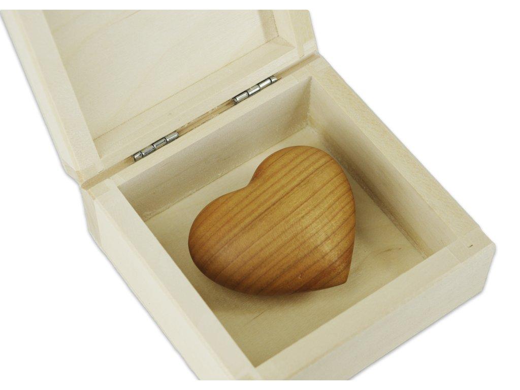 srdíčko v krabičce detail