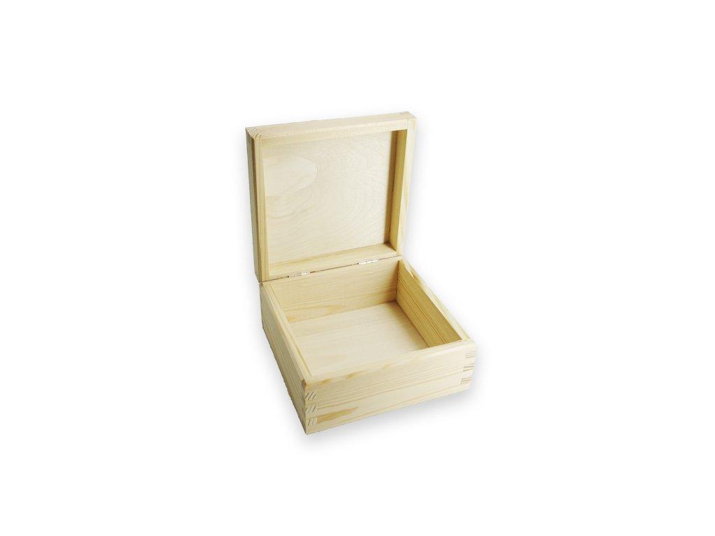 krabička na šperky čtverec otevřená