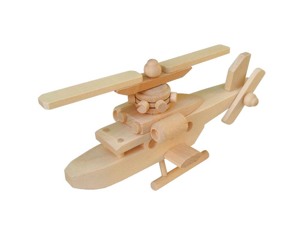 dřevěný vrtulník