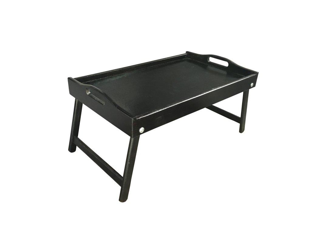 Dřevěný stolek do postele 50x30 cm tmavě hnědá
