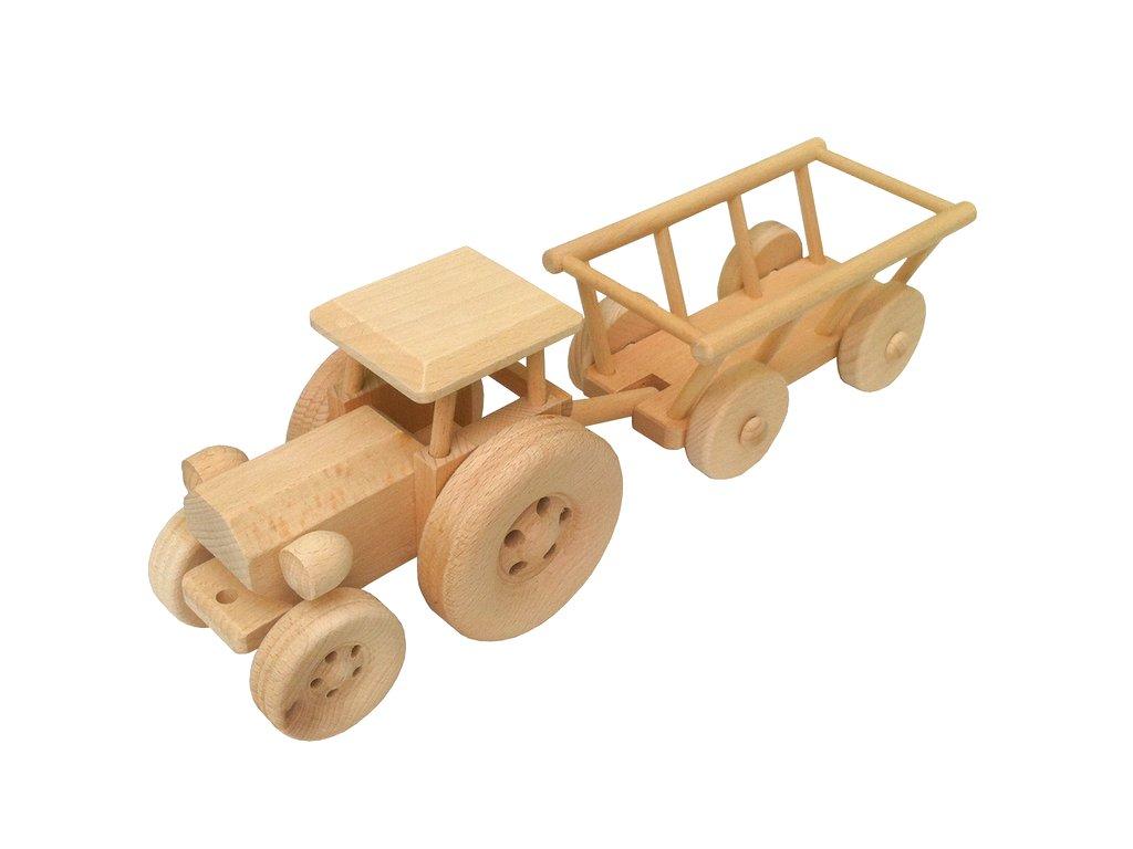 traktor-s-vleckou-john-train-z-drevoteky