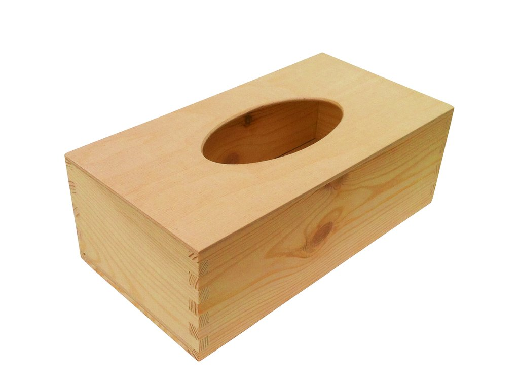 Dřevěná krabička na kapesníky PLY 26x14x9 cm