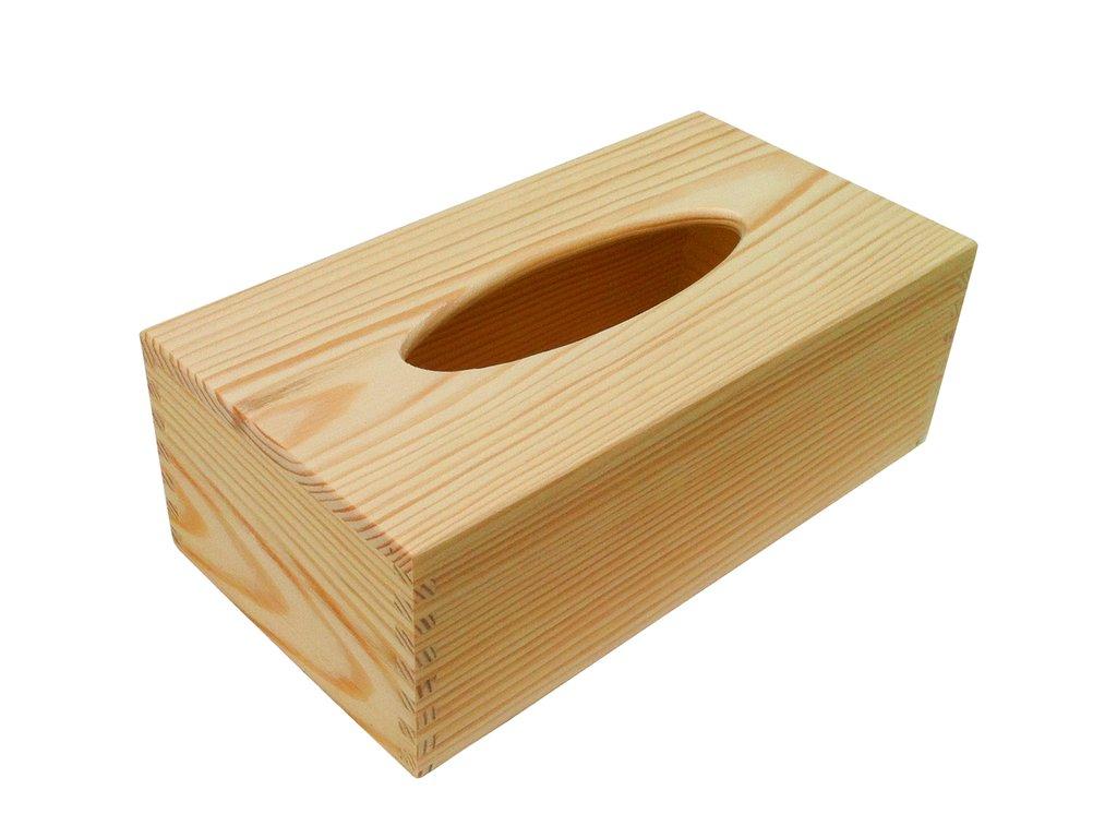 Dřevěná krabička na kapesníky HANKY 25x13x9 cm