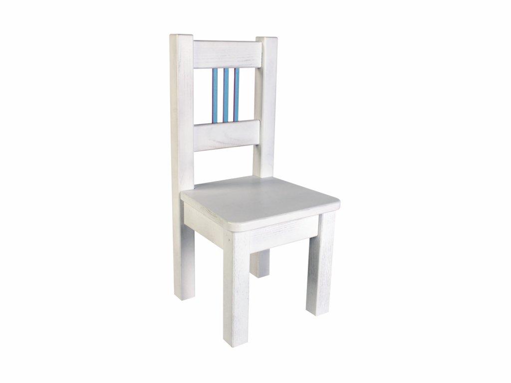 Dětská židle BORNE bílo-modrá