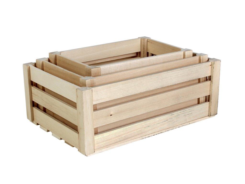 Dřevěná Bedýnka set 3 ks1a