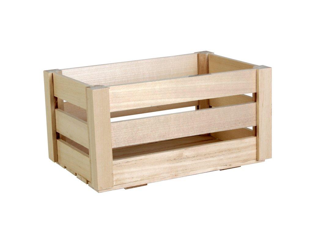 dřevěná bedýnka malá
