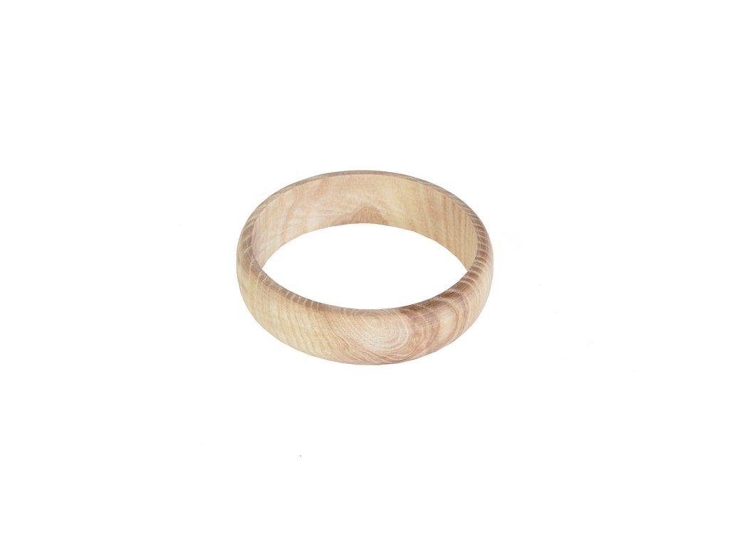 Dřevěný náramek zakulacený 2cm