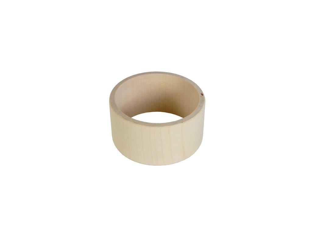 Dřevěný náramek plochý 4cm
