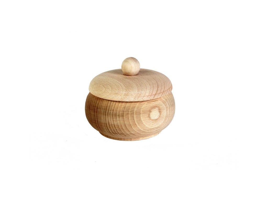 Dřevěná cukřenka SPOON střední bez díry