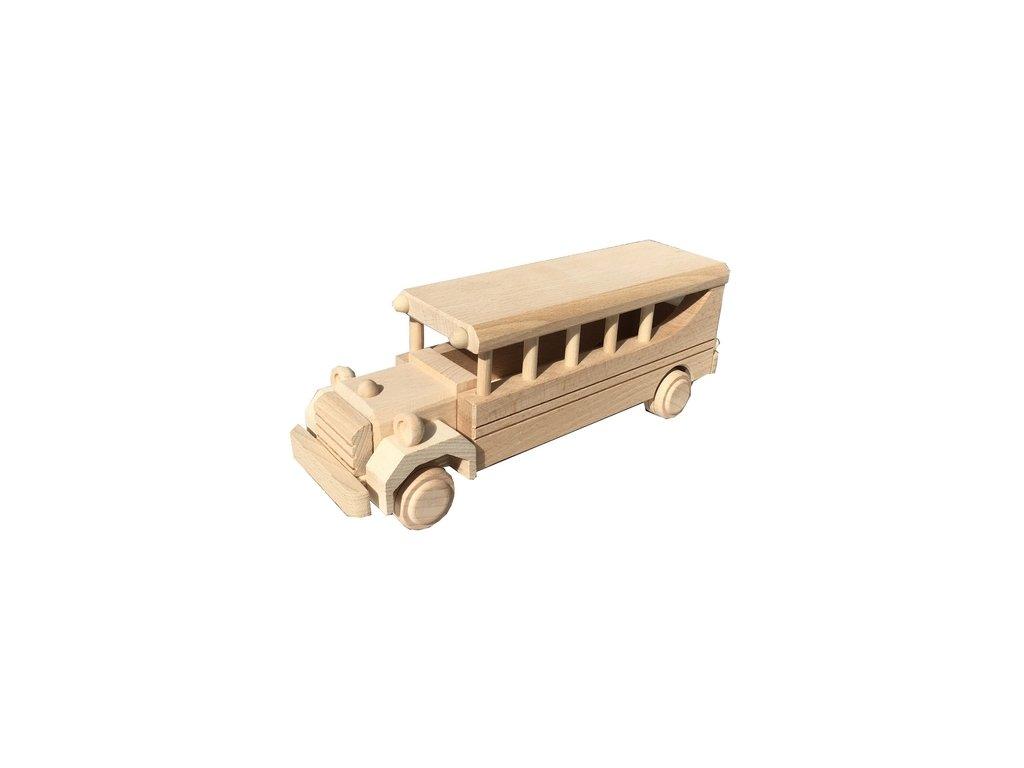 Dřevěný autobus AMERIKA