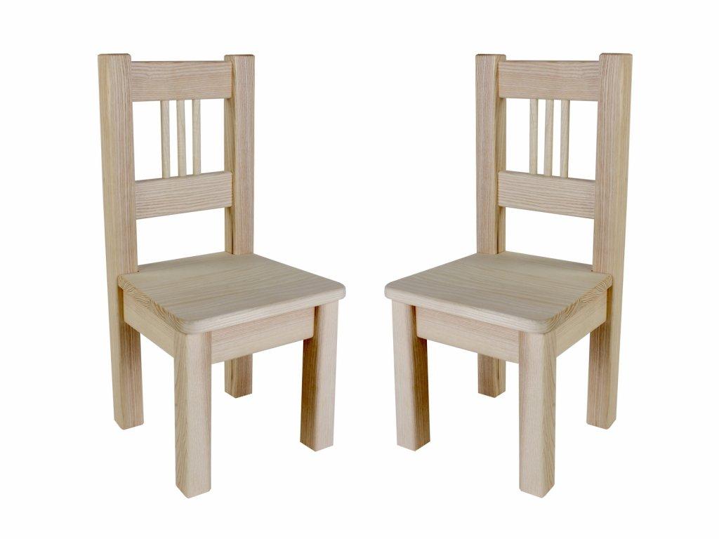 Dřevotéka Dětská židle BORNE natur set 2 ks