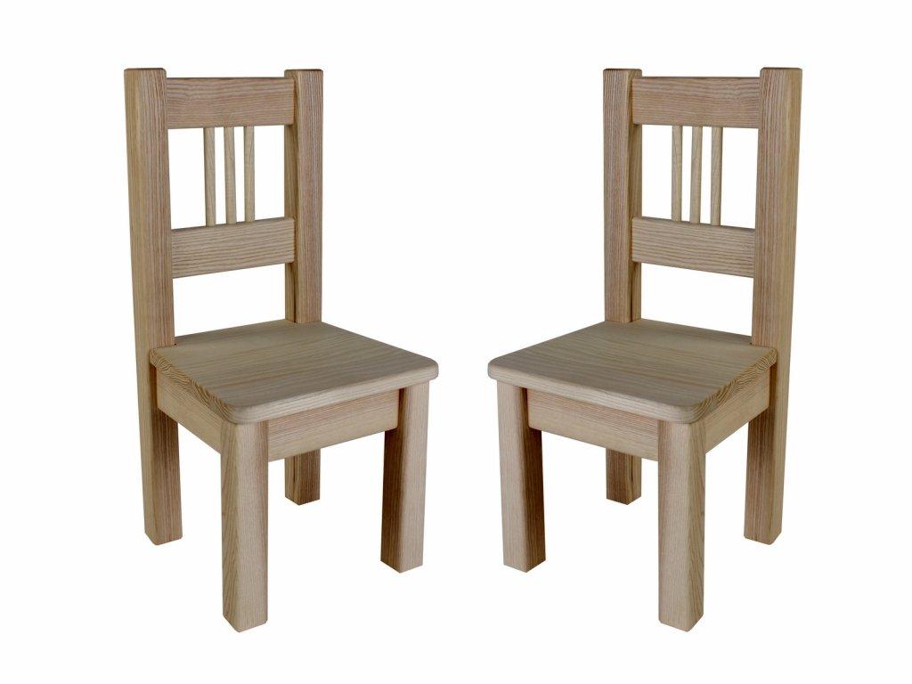 Dřevotéka Dětská židle BORNE (2 ks)