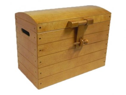 truhla na hračky pirátská medová velká 001
