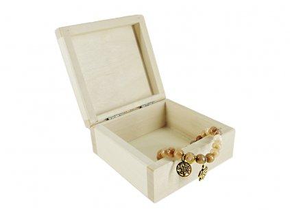 krabička malý čtverec na šperky
