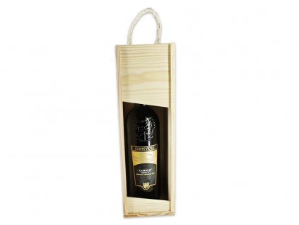 krabička na víno s lahví