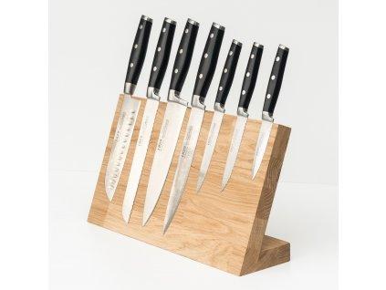 blok na nože s magnetem detail