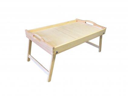 Dřevěný stolek do postele 50x30 cm nelakovaný