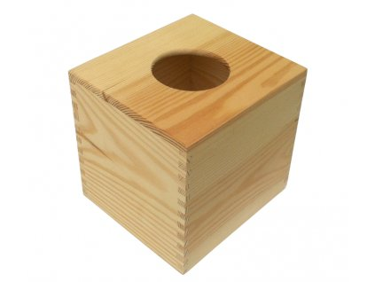 Dřevěná krabička na kapesníky HANKY 15x14x14 cm