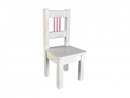 Dětská židle BORNE bílo-růžová