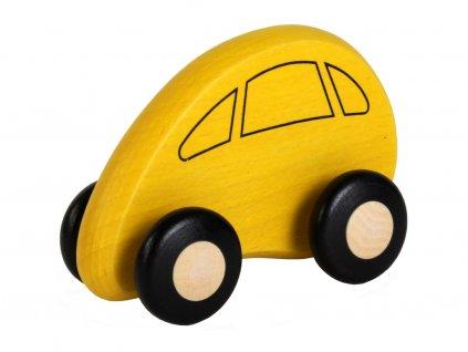 Dřevěné autíčko žluté