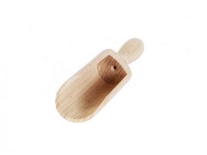Dřevěná naběračka koření 17,5cm