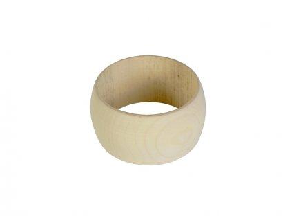 Dřevěný náramek zakulacený 4cm