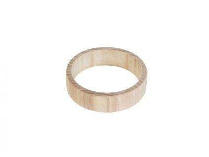 Dřevěný náramek plochý
