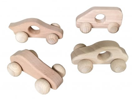 Dřevěné autíčka pro nejmenší