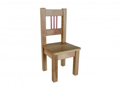 Dřevotéka Dětská židle BORNE růžová