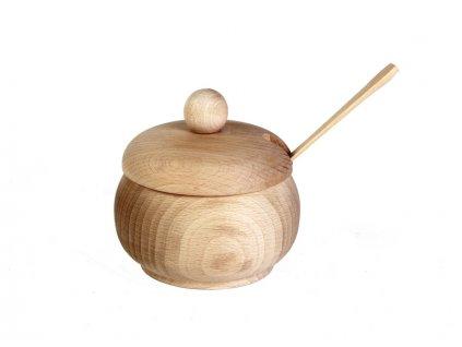 Dřevěná cukřenka SPOON malá s dírou