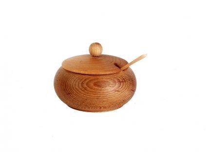 Dřevěná cukřenka SPOON velká s dírou
