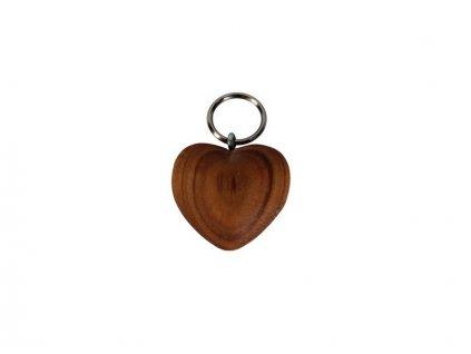Dřevěný přívěšek srdce LOVE
