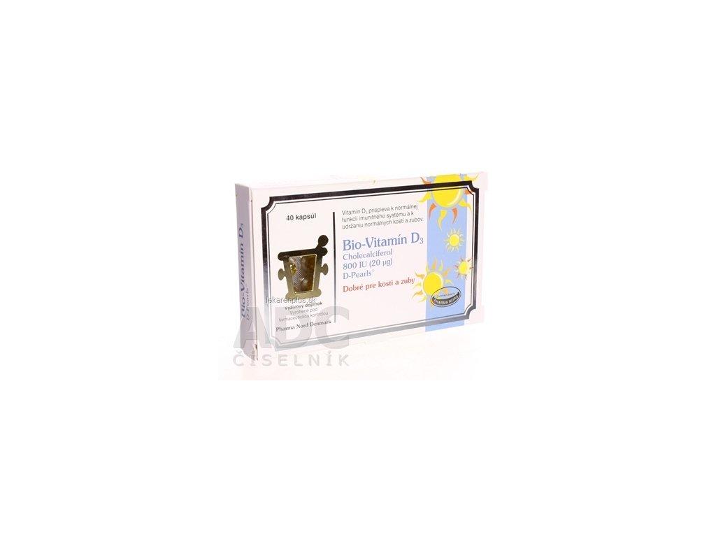 Bio-VITAMÍN D3 cps (cholecalciferol 800 IU) 1x40 ks