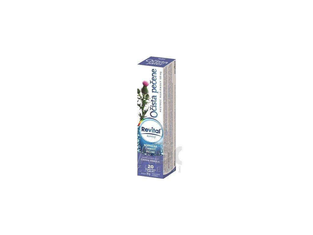 Revital Očista pečene + pestrec mariánsky 150 mg tbl eff s príchuťou čierna ríbezľa 1x20 ks