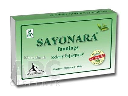 SAYONARA fannings zelený čaj sypaný 1x100 g