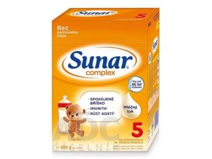 Sunar Complex 5 mliečna výživa (od ukonč. 36. mesiaca) (inov.2020) 1x600 g