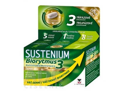 SUSTENIUM Biorytmus 3 multivitamín ŽENA 60+ tbl 1x30 ks