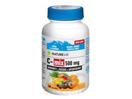 SWISS NATUREVIA C-mix 500 mg cmúľacie pastilky 1x30 ks