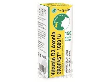 Vitamín D3 Axonia OROFAST 1000 IU sublingválny sprej 150 dávok 1x30 ml
