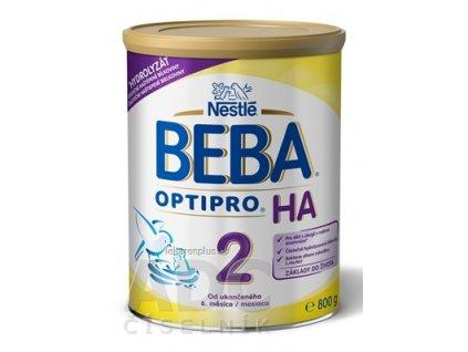 BEBA OPTIPRO HA 2 (inov. zloženie 2018)(následná výživa dojčiat od ukonč. 6.mes.) 1x800 g