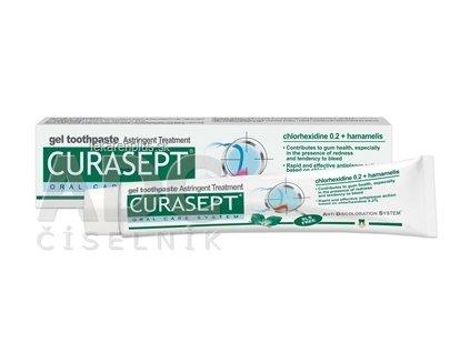 CURASEPT Astringent gélová zubná pasta 1x75 ml
