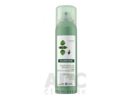 KLORANE SHAMPOOING SEC SÉBOR. à lOrtie suchý šampón, seboregulačný so žihľavou, na mastné vlasy (inov.2019) 1x150 ml