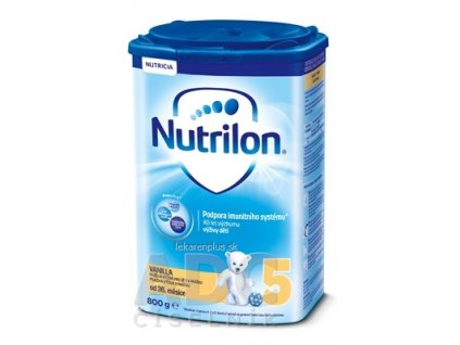 Nutrilon 5 Vanilla detská mliečna výživa v prášku (od 36. mesiaca) 1x800 g