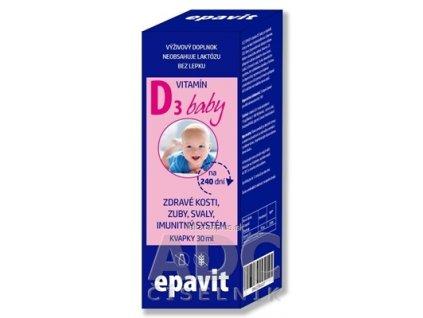 EPAVIT Vitamín D3 baby pre deti kvapky 1x30 ml