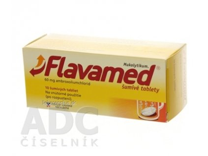 Flavamed šumivé tablety tbl eff 60 mg (tuba PP) 1x10 ks