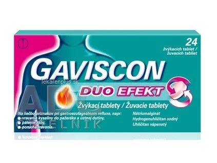 GAVISCON DUO EFEKT žuvacie tablety tbl mnd (blis.) 1x24 ks